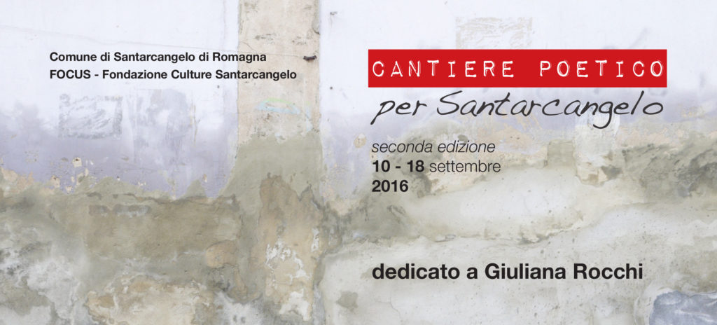 Cantiere Poetico 2016