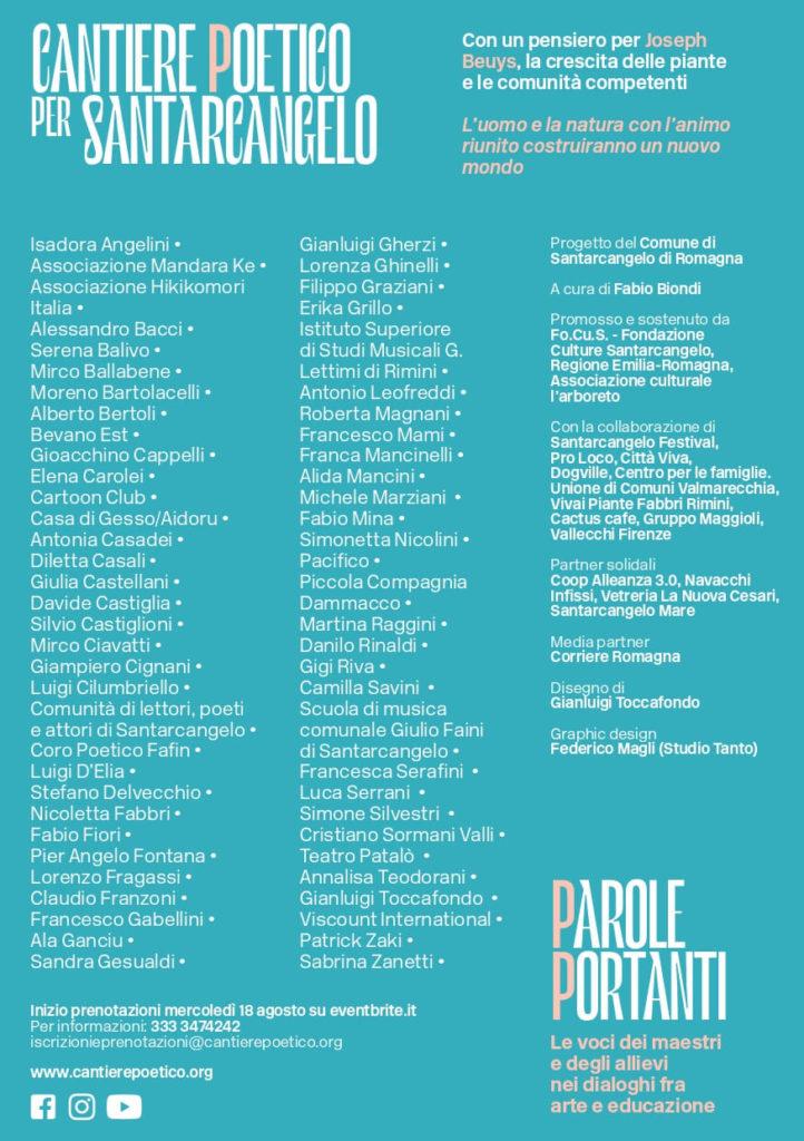 Save the date / Cantiere poetico per Santarcangelo / settima edizione 5 - 12 settembre 2021